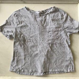 Zara striped pocket shirt